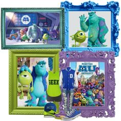 """Mike & Sully"" by trina-luvs-u-henley on Polyvore"