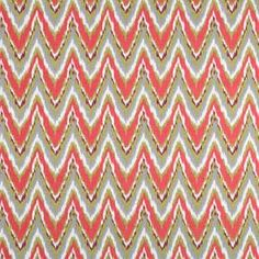Neo Flame Fabric in Coral