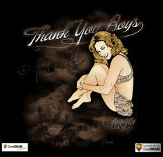 Thank You Boys ARMY Pin UP