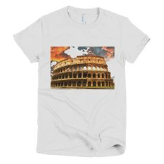 """Colosseum Twilight"" short sleeve women's t-shirt - Italian Shirts Online"