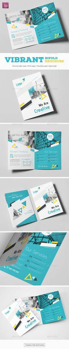 #Vibrant #Bifold #Brochure - Corporate Brochures