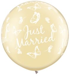-REA- 80cm just married butterflies-a-round - pearl ivory 2st 85kr