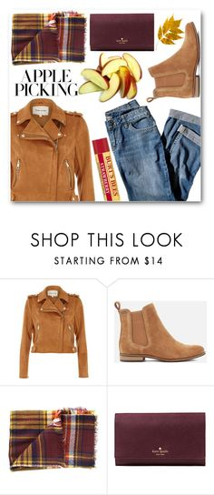 """""""Pick dem Apples"""" by llsahrall ❤ liked on Polyvore featuring J.Jill, River Island, Superdry, Cents of Style and Kate Spade"""