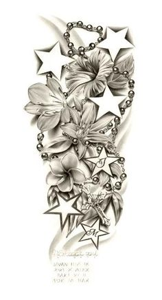 Flowers Composition Sleeve tattoo by ~ca5per on deviantART by gilda