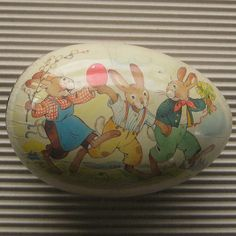 Vintage Germany Papier Paper Mache Egg Container Box Decoration 7 Inch