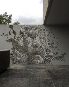 Beautiful in Mexico City. Best Graffiti, Street Art Graffiti, Wall Writing, Beautiful Streets, Installation Art, Art Installations, London Art, Street Artists, Banksy