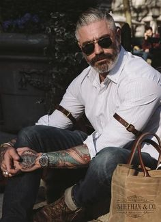 Sheehan & Co. Leather Arm Garters