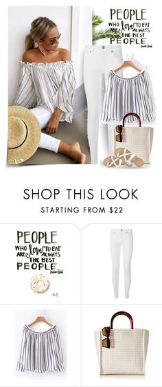 """Untitled #228"" by craftsperson ❤ liked on Polyvore featuring Mura, Burberry, Mark & Graham and whitejeans"