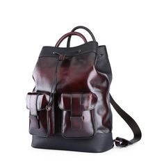 8a91ffdd9476 We are professional Handmade designer large capacity Leather Laptop  backpack hand PATINAED color supplier and factory in China.