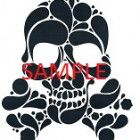 BLACK SKULL AND CROSSBONES CROSS STITCH CHART