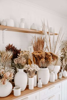 Dried Flower Bar - Dried Flowers & Grasses - Restocked with natural Australian grown beauties x # - Cheap Beach Decor, Cheap Home Decor, Dried Flower Arrangements, Dried Flowers, Deco Champetre, Flower Bar, Victorian Decor, Home Decor Kitchen, Home Decor Accessories