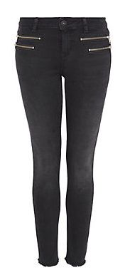 HALLHUBER Cropped Skinny Jeans mit Zippern