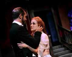 Amanda Card stars as Patricia, with David Compton as The Conjurer in Blackbird Theater's production of MAGIC by G.K. Chesterton.