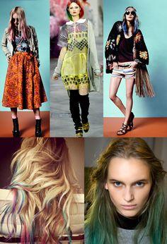 Haartrend: gekleurde punten - StyleToday