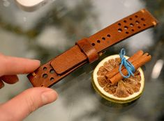 22x20mm dark tan vintage leather watch by VladislavKostetskyi