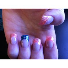 Different colors... But good idea for my next nail appointment.