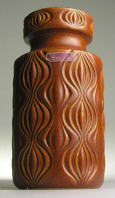 Scheurixh Amsterdam Onion Fossil West German Pottery Modern Mid Century Vintage