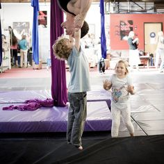 Coaching the Staud kids at Cirque School. Those faces say it all.
