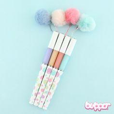 Pastel Pom Pom Ink Pen