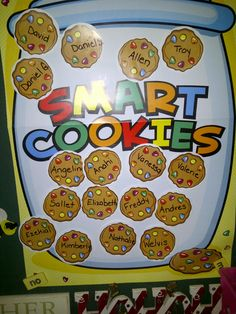 The Smart Cookie jar is for children who score 90% or better on their spelling test. LOVE THIS