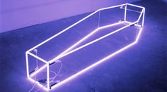 'New Religion' Neon, 2001 by artist Sarah Lucas