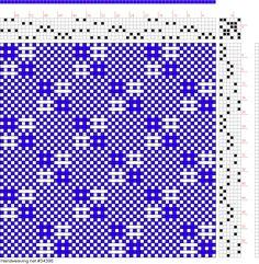draft image: Figure 772, A Handbook of Weaves by G. H. Oelsner, 6S, 6T