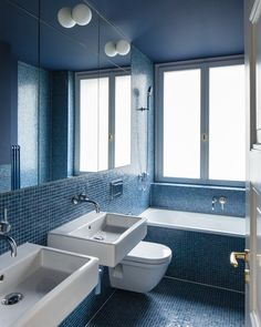 Conen Sigl Architekten Happy House, Bath Room, Corner Bathtub, Mini, Blue, Inspiration, Design, Home Decor, Architects