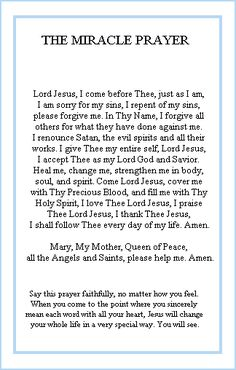The Miracle Pray
