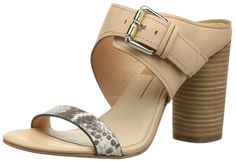 Dolce Vita Womens Maitilyn Leather Stacked Dress Sandals * Additional details at the pin image, click it  : Sandals