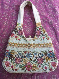 Vintage 60s Tapestry Purse  Retro Shoulder by GypsysClosetVintage