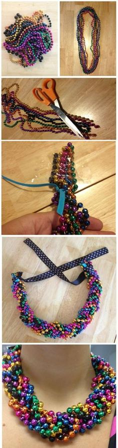 DIY Mardi Gras Statement Necklace by brittney