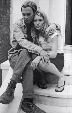 Johnny Depp & Kate Moss 1995