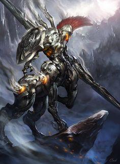 "ArtStation - Kentauros ''Destruction armored unit"" _Darkness version (破坏 機甲部隊), P.K.K. Monster Art, Monster Concept Art, Robot Concept Art, Fantasy Monster, Armor Concept, Weapon Concept Art, Robot Art, Fantasy Character Design, Character Design Inspiration"