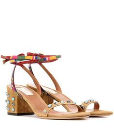 VALENTINO Valentino Garavani Embellished Leather Sandals. #valentino #shoes #sandals