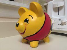 Winnie the Pooh Hand Painted Ceramic Piggy Bank Medium Winnie The Pooh, Large Piggy Bank, Personalized Piggy Bank, I Shop, My Etsy Shop, Martha Stewart Crafts, Hand Painted Ceramics, Ceramic Painting, Diy Projects