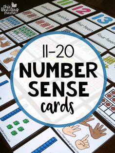 Number Sense Cards 11-20 - This Reading Mama