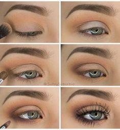 16 Easy Step-by-Step Eyeshadow Tutorials for Beginners: #9. Easy Step by Step Makeup Tutorial – Subtle Brown Smokey Eye #arabicmakeup