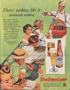 Vintage Drink Advertising Budweiser