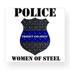 Police Women Of Steel Badge Wine Label > Police Women Of Steel Diamond Plate Badge > The Art Studio by Mark Moore
