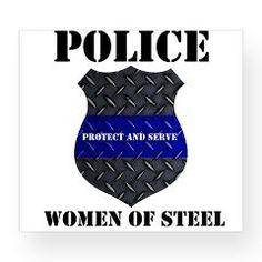 Police Women Of Steel Badge Wine Label > Police Women Of Steel Diamond Plate Badge > The Art Studio by Mark Moore