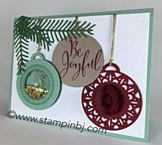 Merriest Wishes, Stampin' Up! Merry Tags, Shaker Card, #merriestwishes…