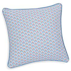 Kussenhoes, katoen, blauw/oranje, 40 x 40 cm, PESCA €9 - Maisons Du Monde