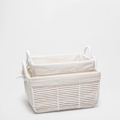 FABRIC-LINED BASKET WITH HANDLES - Baskets - Decoration | Zara Home United…
