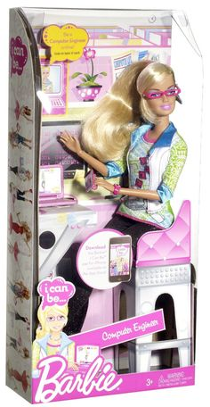 CONDITION: Customer Return VERY RARE!!!!! - Barbie gets tech savvy - Girls can play out the role of computer engineer - Help Barbie fix the company's computer network and save the day - Code inside un