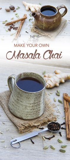 Masala Chai Rooibos 'Tea' Recipe with Health Benefits Tea Recipes, Raw Food Recipes, Dairy Free Recipes, Indian Food Recipes, Smoothie Recipes, Smoothies, Vegan Food, Alkaline Recipes, Drink Recipes