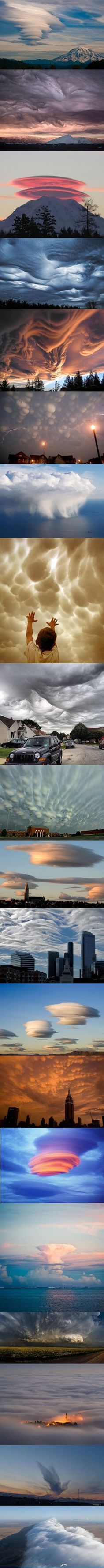 some cloud formations... - #clouds #cloudformations