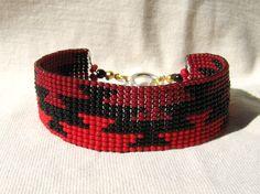 FRIENDSHIP Yurok Hupa Wiyot Basket Weave Design - Loomed Beaded Bracelet - Custom Beaded Bracelets For You