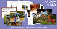 """These new autumn writing prompts are just the thing for encouraging children to """"put themselves into"""" a scene and think about what they might see, smell, hear, touch and feel, before making a story plan an Activity Village, Story Planning, Autumn Activities For Kids, Story Setting, Autumn Crafts, Writing Activities, Writing Prompts, Encouragement, Scene"""