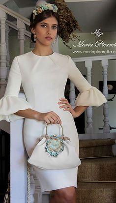 Sleeves Collection for fashion design Learner Elegant Dresses, Cute Dresses, Short Dresses, Vestidos Vintage, Vintage Dresses, Winter Dresses, Evening Dresses, Look Fashion, Womens Fashion