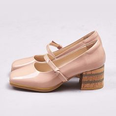 Chiko Holly Cork Block Heel Mary-Jane Pumps